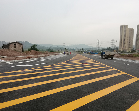 淄川交通道路划线