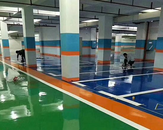 小区地下车库青岛划线